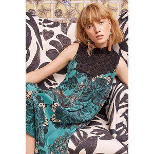 Anthropologie Maeve Butterfly Lace Swing Dress XS